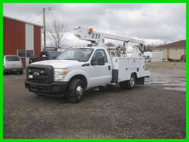 FORD F350 6. 2L GASOLINE AUTO AC WITH 34' REACH '''ETI'''BUCKET/BOOM (2011)