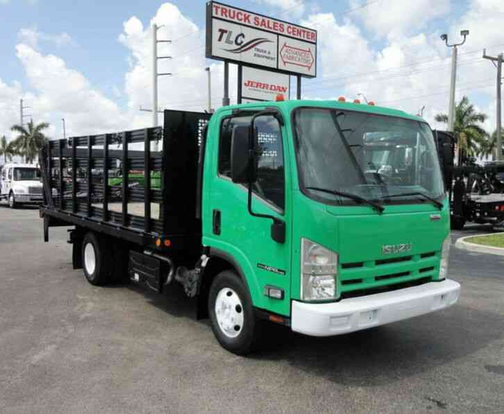 Isuzu NPR HD 16FT FLATBED STAKE BED WITH LIFTGATE. . STAKE TRUCK. (2011)