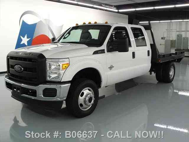 Ford F-350 CREW DIESEL DRW 4X4 FLATBED 6-PASS (2014)