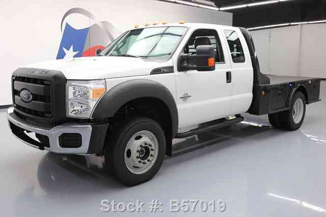 Ford F-550 EXT CAB 4X4 DIESEL DUALLY FLATBED (2014)