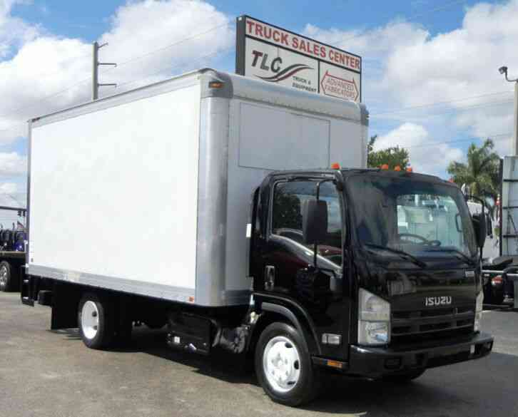 Isuzu NQR 16FT DRY BOX. TUCK UNDER LIFTGATE BOX TRUCK CARGO T (2014)