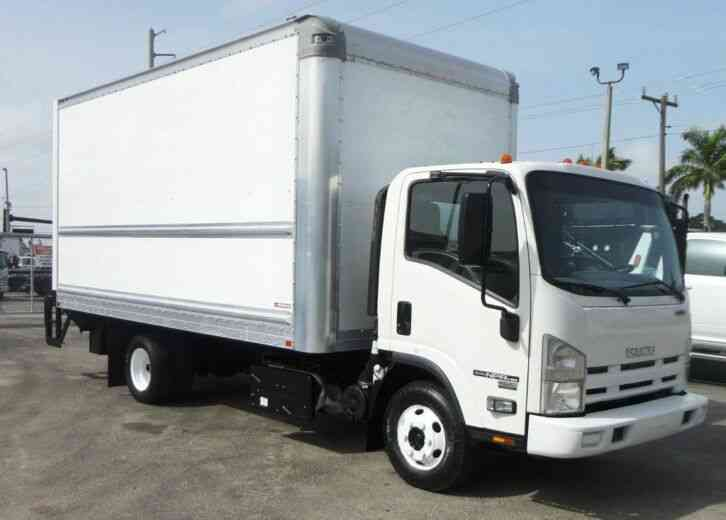 Isuzu NPR HD 16FT DRY BOX. TRUCK UNDER LIFTGATE BOX TRUCK CARGO (2015)