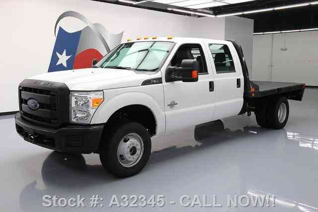 Ford F-350 CREW DIESEL DRW 4X4 FLAT BED 6-PASS (2016)