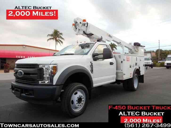 Ford F450 Bucket Truck 2, 189 Miles (2019)