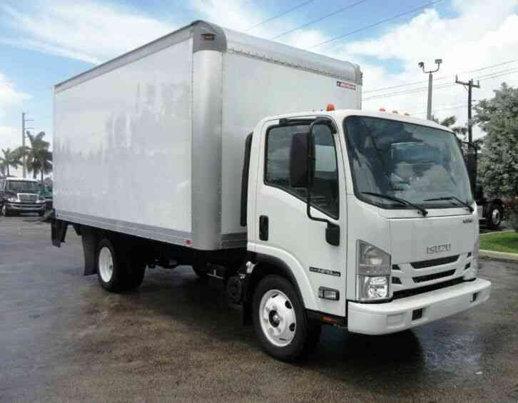 Isuzu NPR HD 16FT DRY BOX. TUCK UNDER LIFTGATE BOX TRUCK CARGO T (2020)