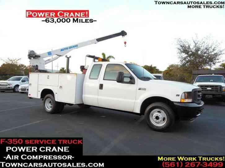Ford F350 Extended Cab CRANE Utility Truck (2002)