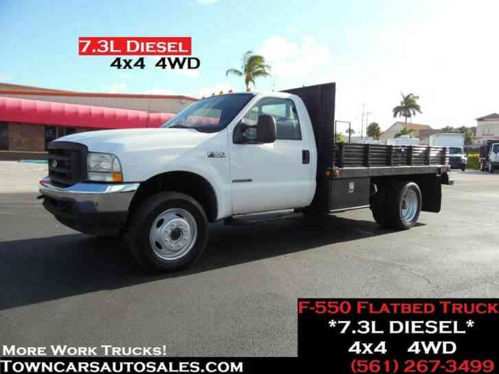 Ford F550 Flatbed Truck 7. 3L Diesel (2002)