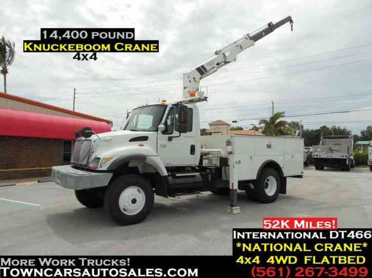 INTERNATIONAL 7300 4X4 KNUCKLEBOOM CRANE TRUCK (2004)